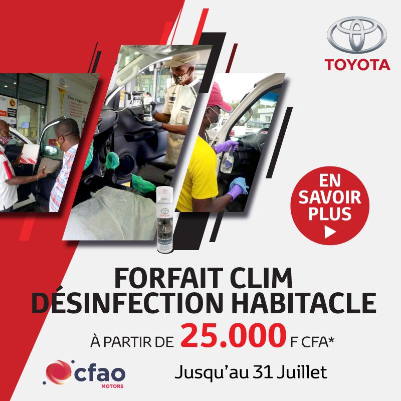 Désinfectez l'habitacle de votre véhicule à partir de 25.000 FCFA | Toyota Côte d'Ivoire