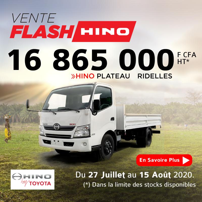 HINO 300 + plateau ridelles à 16.865.000 FCFA HT | OFFRE FLASH