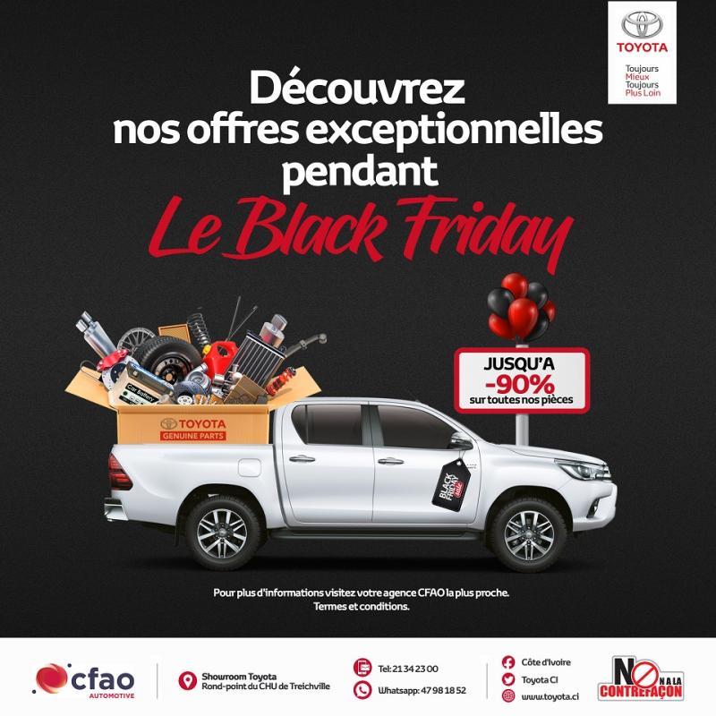 Jusqu'à 90% de réduction sur les pièces auto | Black Friday Toyota