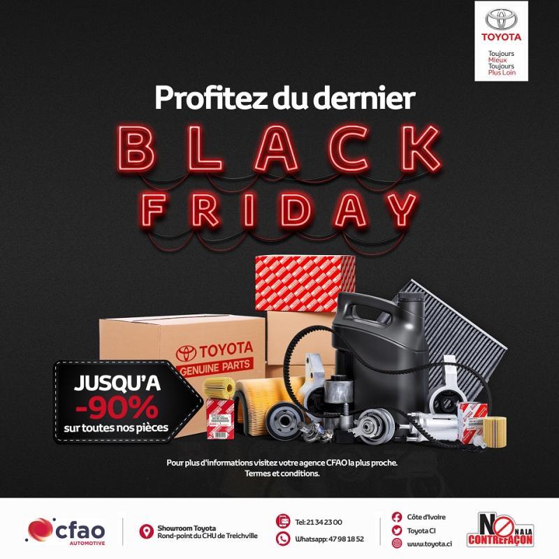 Jusqu'à 90% de réduction - Dernier jour | Toyota Black Friday