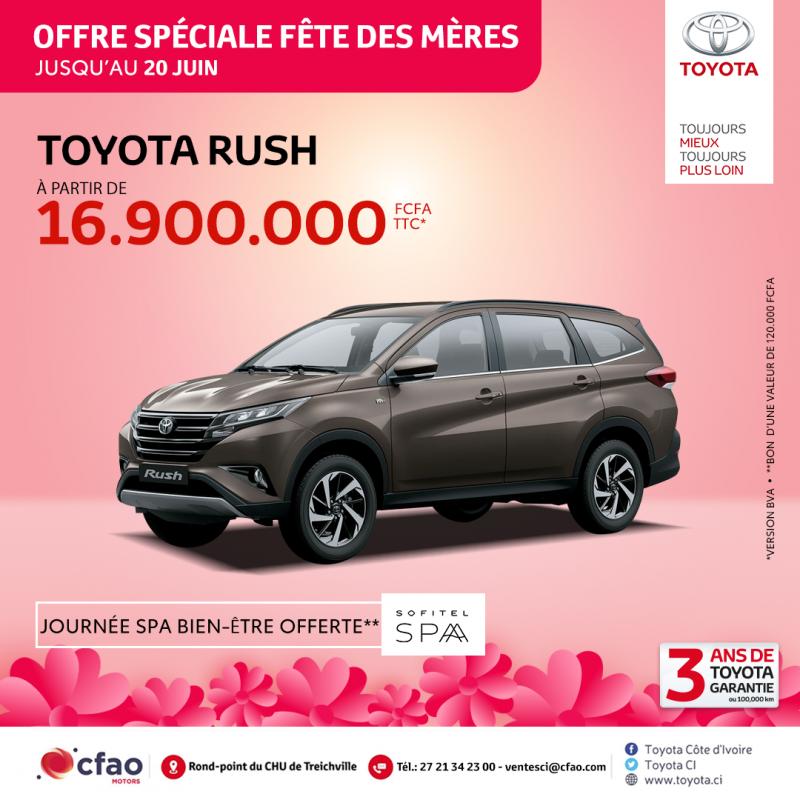 Offre spéciale fête des mères - Toyota