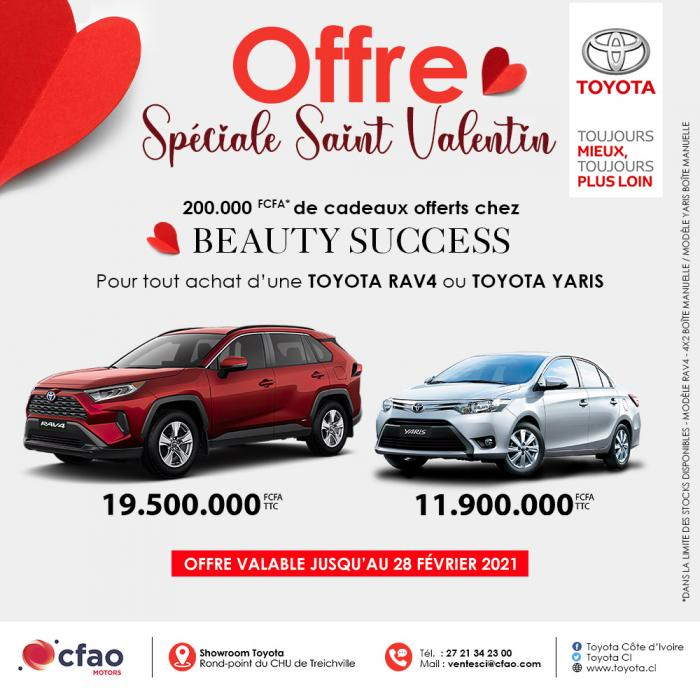 200.000 FCFA de bon d'achat valable chez Beauty Success - Offre Spéciale St Valentin