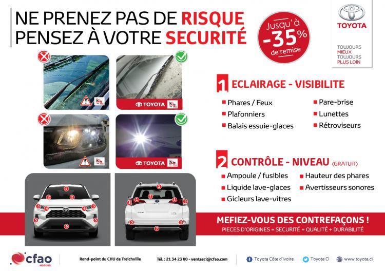 -35% sur le forfait éclairage et visibilité de votre véhicule